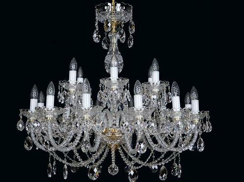 Large crystal chandelier L621/18/19 S gold
