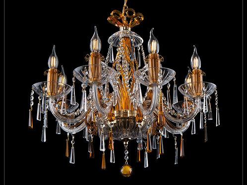 Chandelier modern style custom made silver brass L419/8/303-2 N amber