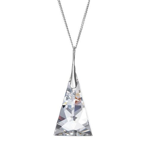 Pendant Ag 925/Rh Crystal pyramid - crystal