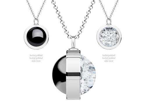 Pendant  Singularis  Hematit Black Colorless crystals Silver Ag 925 / Rh 6116 70