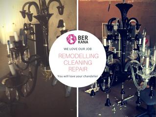 Before vs After - Chandelier repair