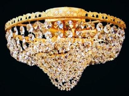 "Gold crystal ceiling light ""Berkana L709-3-05 S"""