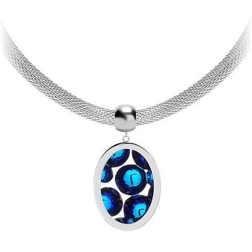 Necklace stainless steel Bohemian crystal Idared Elegancy and  Luxury