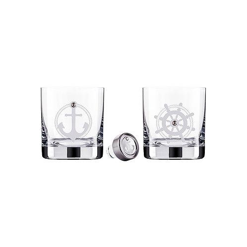 Whisky Set of 2 glasses. Nautical sets. 1480 40