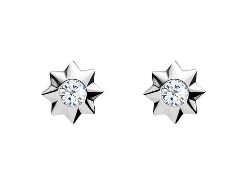 Earrings Orion Colorless cubic zirconia diamond Silver Ag925/Rh 5249 00
