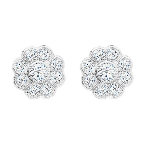 Earrings with  cubic zirconia stones  Rosalia