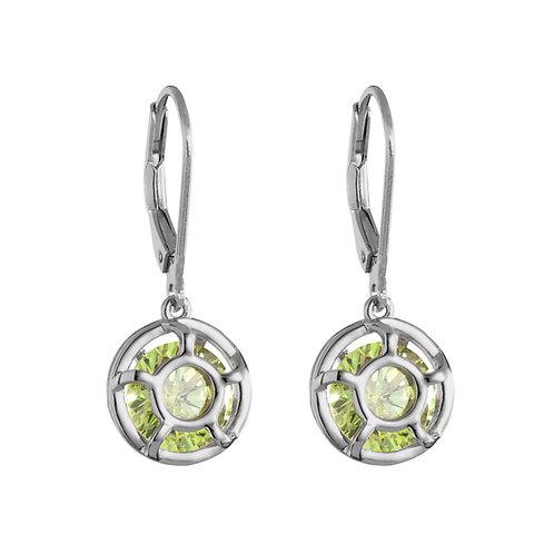 Earrings Ag 925/Rh Enigma peridot
