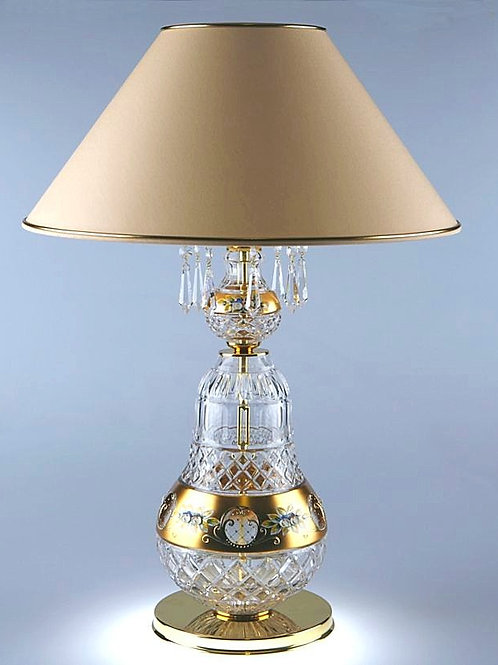 Table lamp  crystal with shade S656/1/03 S gold brass finished