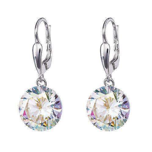Earrings for women Starry sterling silver  clear cubic zirconia stones
