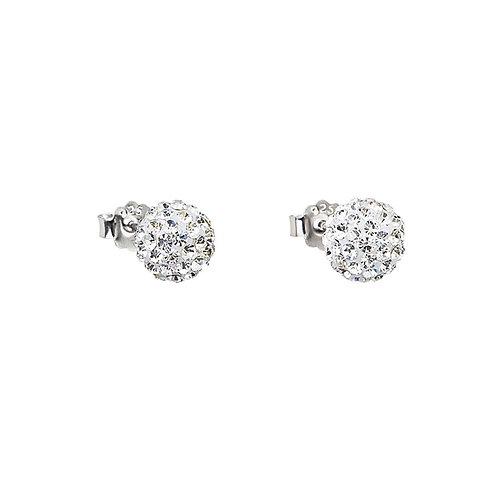 Earrings Brilliant Ball silver Ag 925/Rh crystal