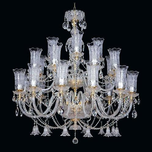 "Crystal chandeliers ""Berkana L681/24+3/01 TB"" silver finishes"