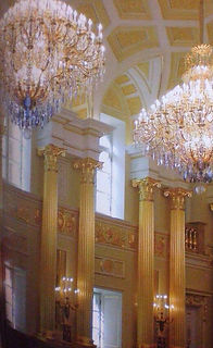 These two oversized chandeliers are decorating and providing light for the entire church with especially tall ceilings | Berkana USA