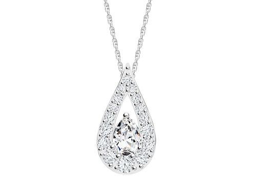 Pendant Libra cubic zirconia diamonds stones Silver AG 925 / Rh 5242 00