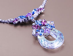 A necklace piece from a new Preciosa collection. Mineral coloured crystals shine with brilliance and create a look no lady can repeat. You can buy this from one and only distributor at www.berkana-usa.com.