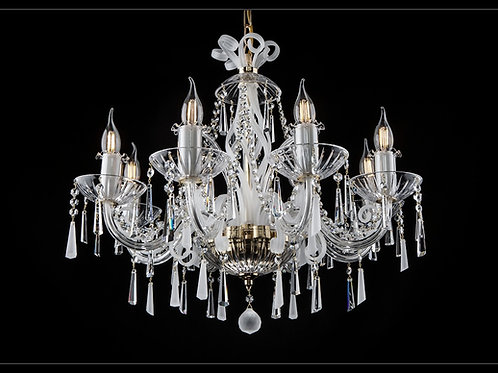 Crystal modern chandelier L419/8/03 S mat silver brass finished