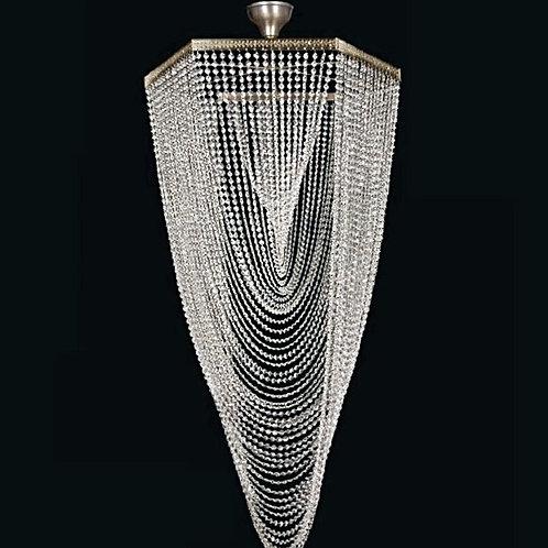 Large pendant lighting L747/12/05 Swarovski silver