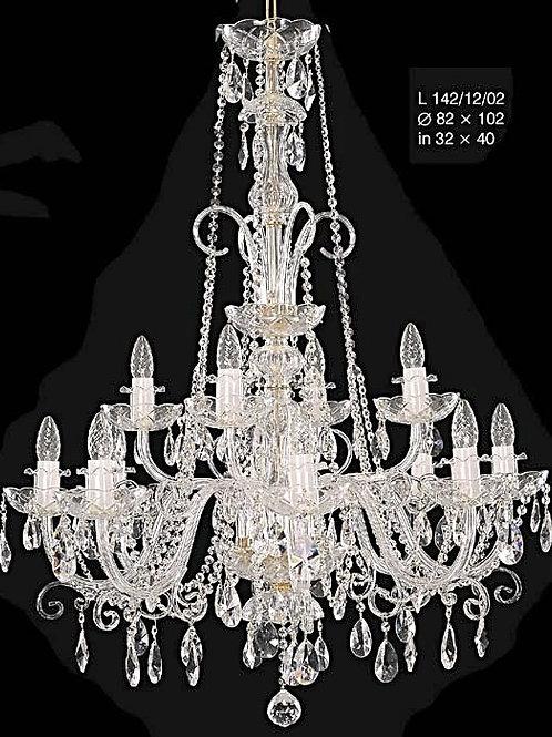 L142/12/02 N crystal chandelier bohemian