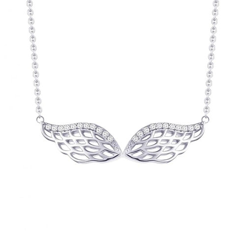 Necklace Angel's  Wings Sterling silver hypoallergenic for girls and women