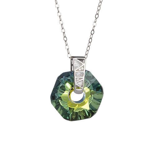 Pendant Gentle Inspiration Silver Ag 925/Rh Light green - yellow sahara