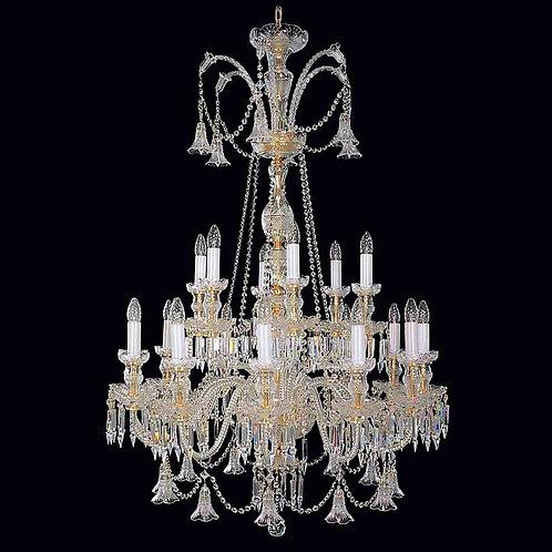 Large crystal chandelier L672/18/19 gold Swarovski
