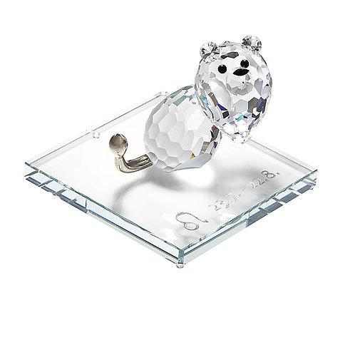 Zodiac - Leo. Crystal figurine. 1200 88