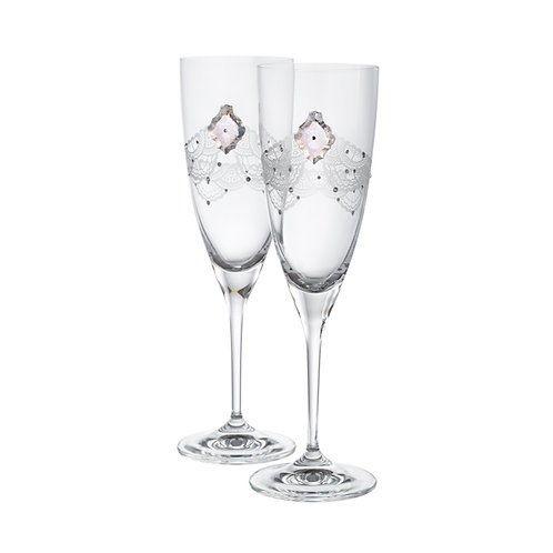 Wine glasses set. Crystal Delicacy. 1430 42