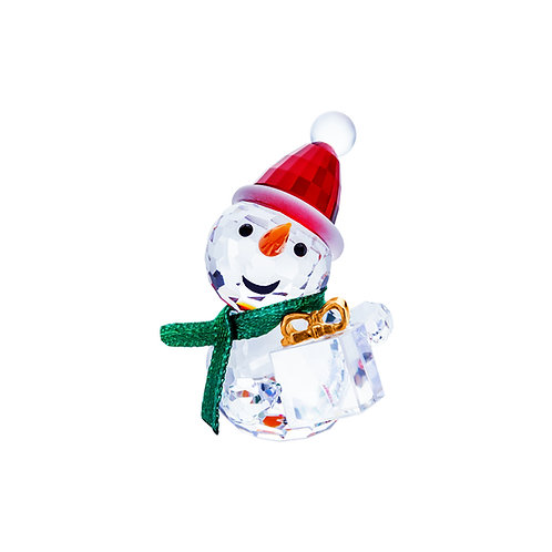Snowman with a gift. Christmas gift. 1468 80