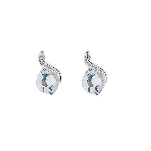 Earring Crystal 629600 silver Ag925 / Rh Butterfly Dream