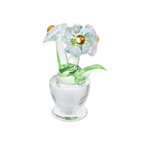 Gift for Mom, girl, Women. Spring Flower (topaz). 1428 61