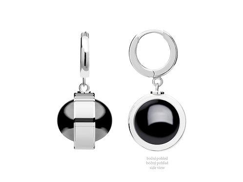 Earrings Singularis Hematit Black crystals Silver Ag925/Rh 6117 48