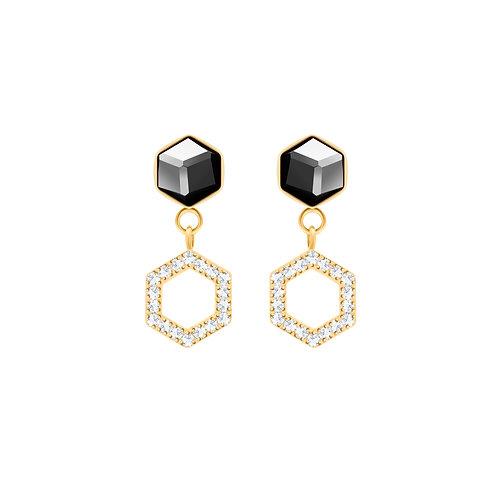 Honeygon gold earrings for women hypoallergenic with cubic zirconia stones
