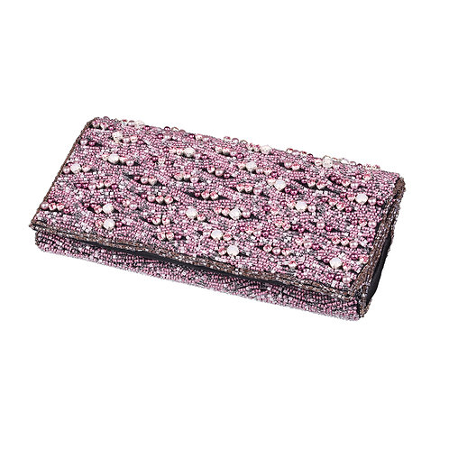 Clutch Customised Handbag Crystal Evening Pink