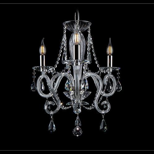 Chandelier clear crystal L218/3/09 silver brass