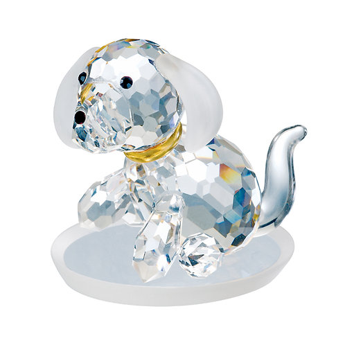 Crystal figurines. Dog. Miniature collection. 1039 71