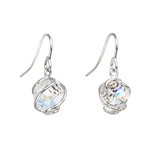 Romantic Beads - Earrings Ag 925/Rh - crystal AB