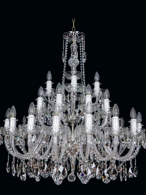 "Bohemian crystal chandelier ""Berkana L102/28/02o II N"""