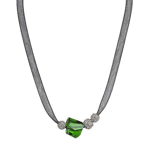 Charme - Necklace Ag 925/Rh - peridot