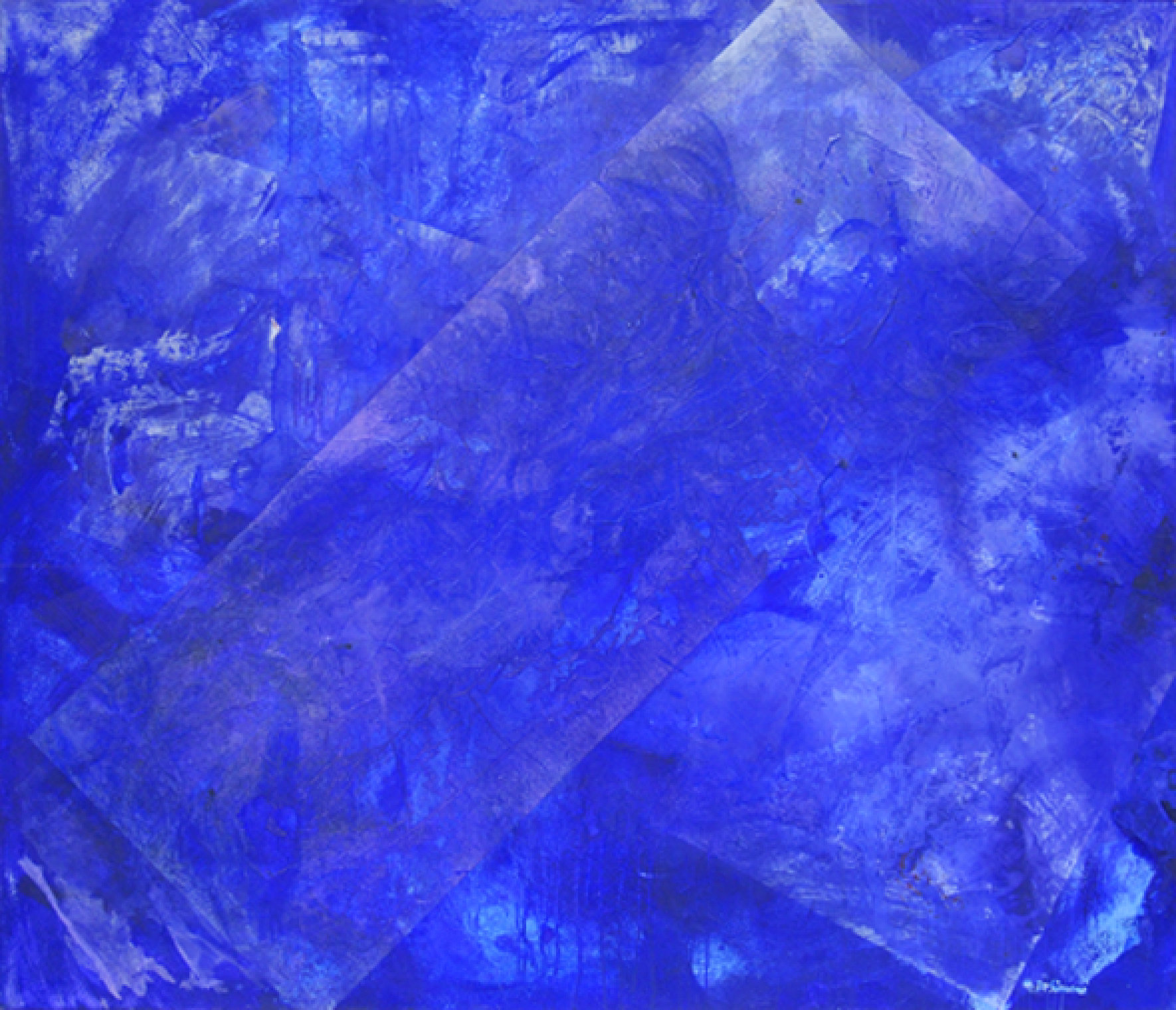 Through the stars, 2013, acrilico su tela, 120x140 cm