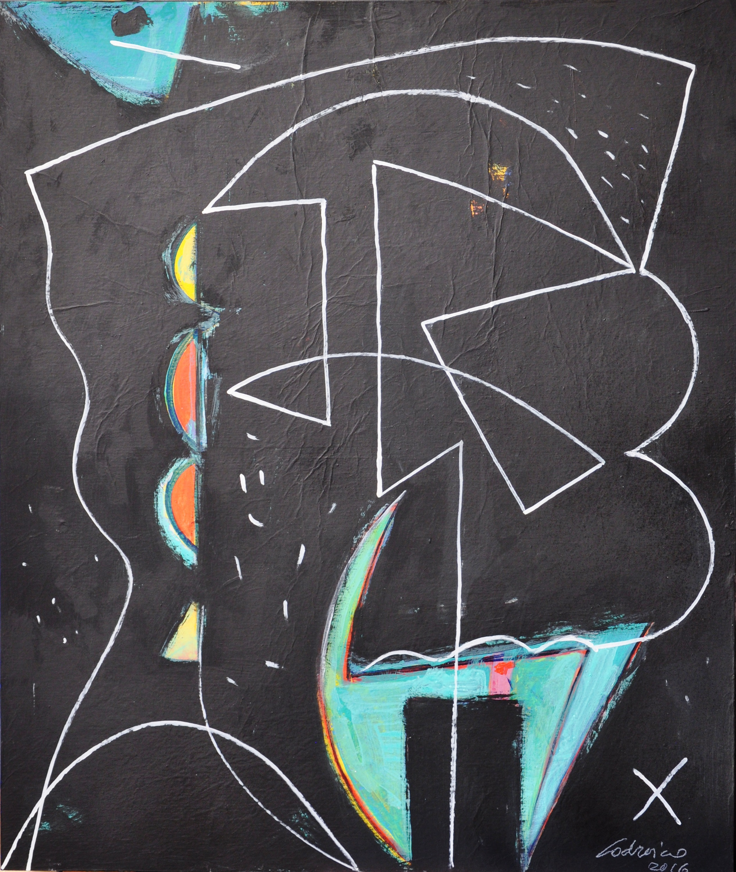 Paesaggio, acrilico, 2016, cm 65x55