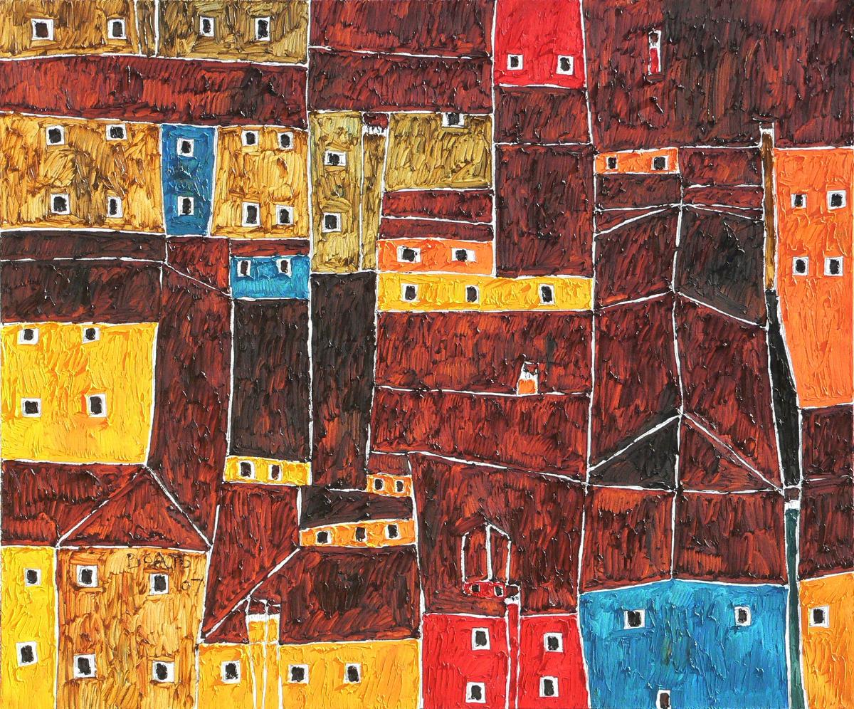 Burano,2007,olio su tela, 120x100