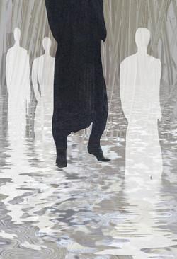 L'uomo nero 185 x 135 cm
