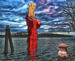 Guardiana del fiume 150 x 170 cm
