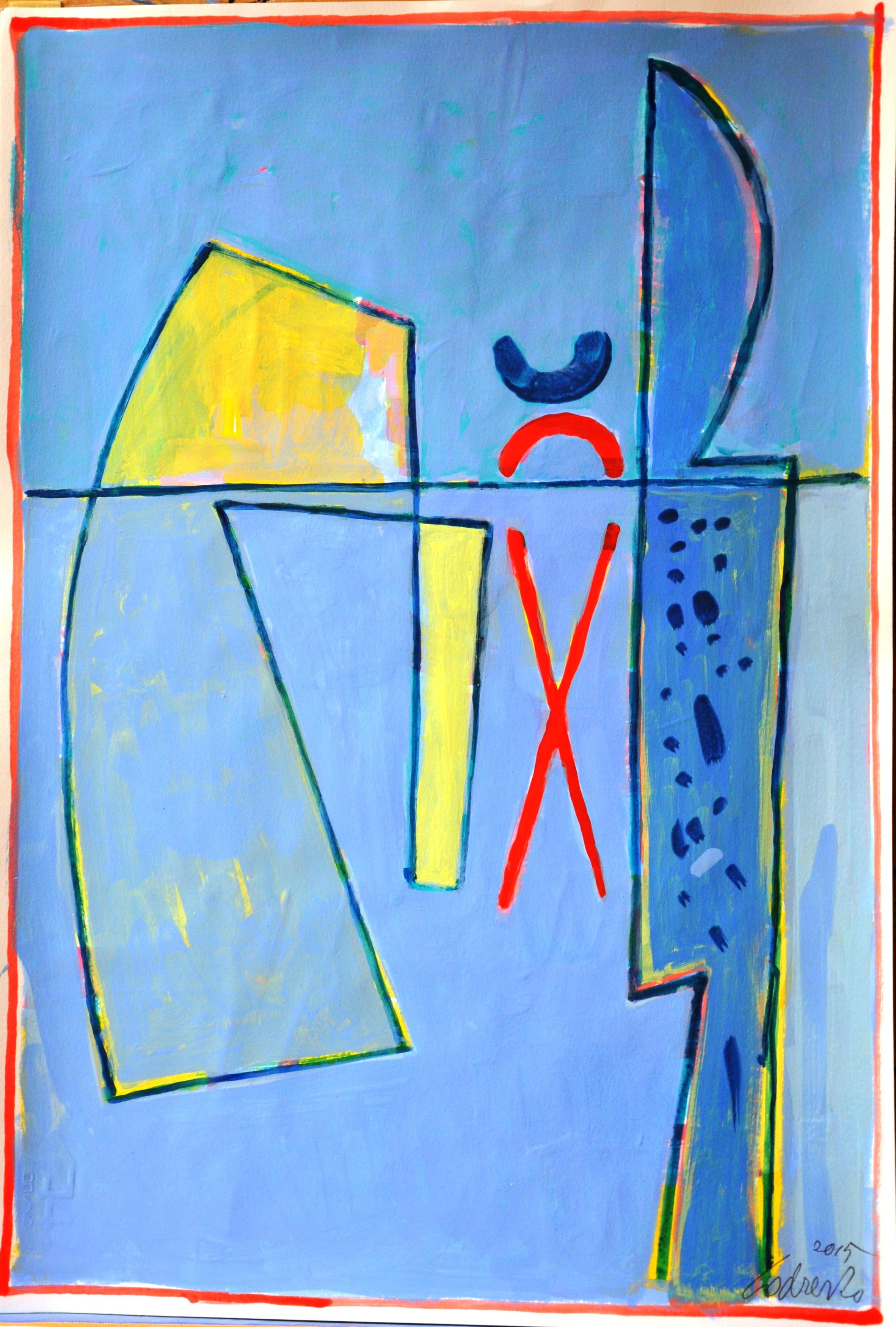 Confine, acrilico, 2015, cm 46x31