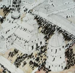 Pisa,  olio su tela,  100x100cm, 2010