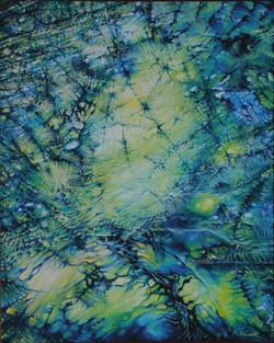 Giallo e blu olio su tela cm100x80