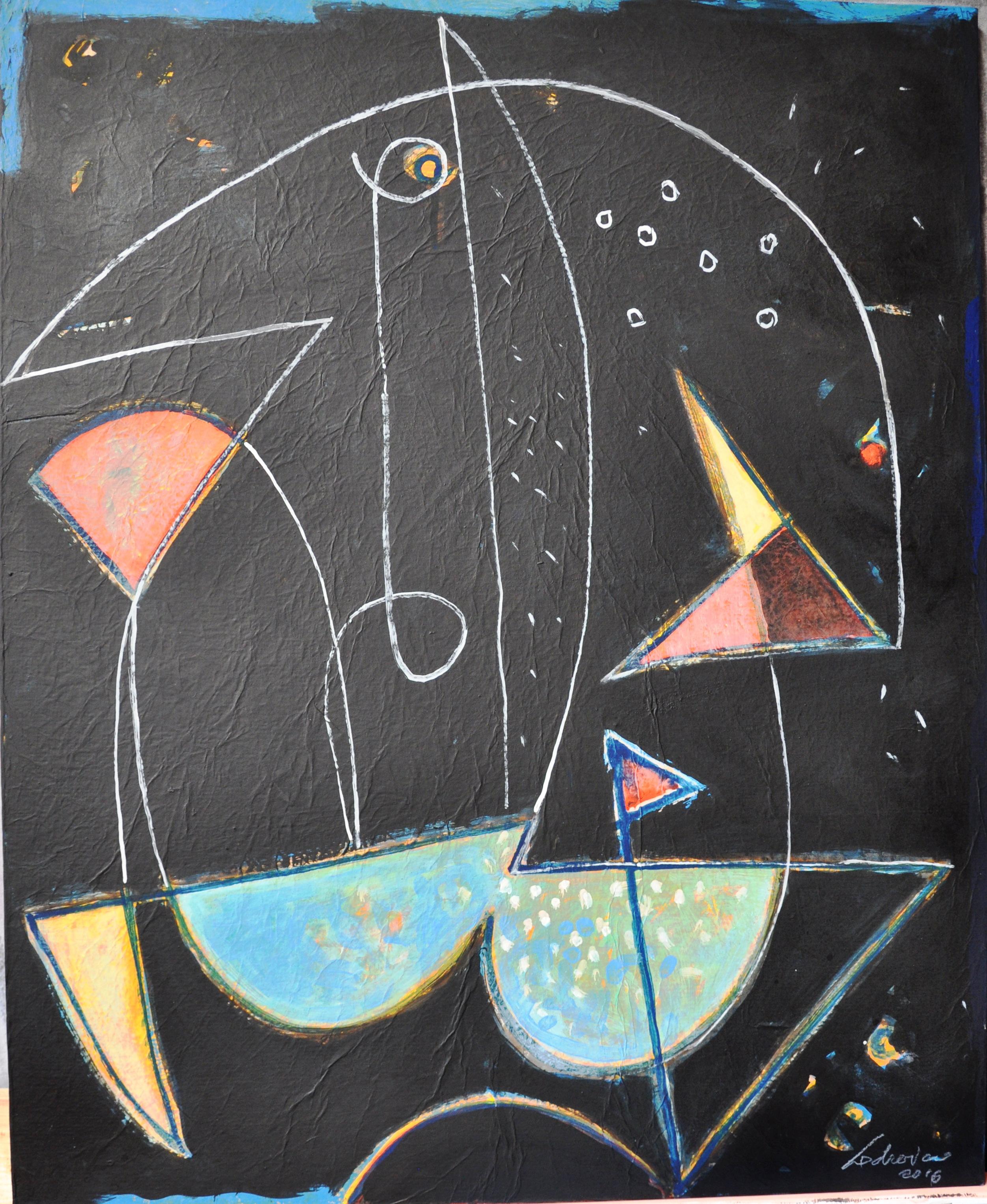 Minotauro, acrilico, 2016 cm. 67x54