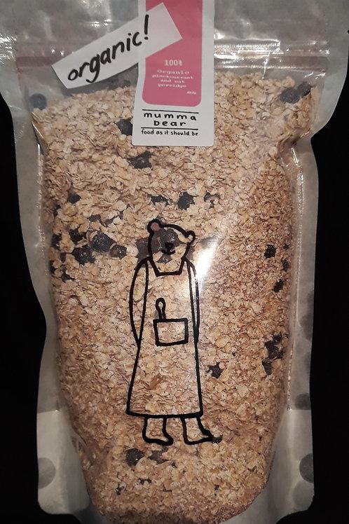 100% Organic Blackcurrant and Oat porridge