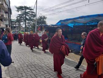 Tibetan Monks in Dharamsala