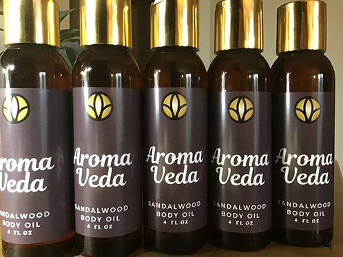 Aroma Veda Sandalwood Body Oil (4 oz)