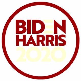Biden/Harris 2020 Red and White